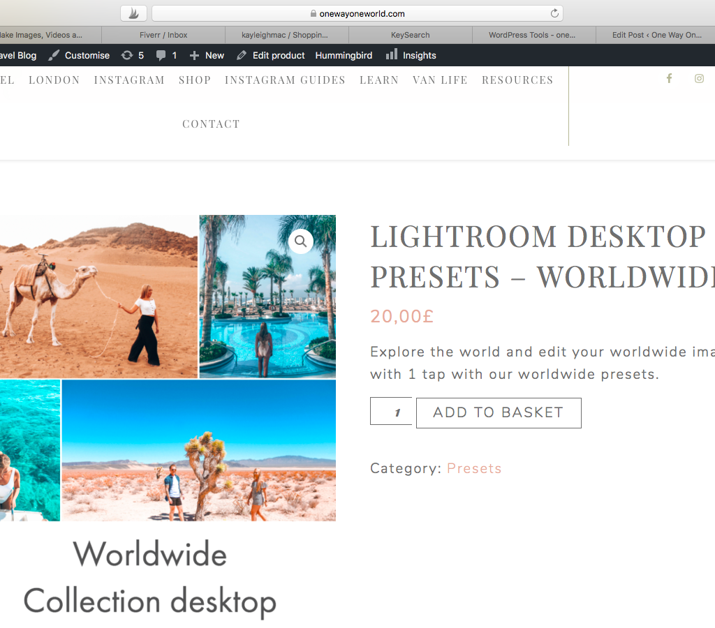 How to sell Lightroom presets